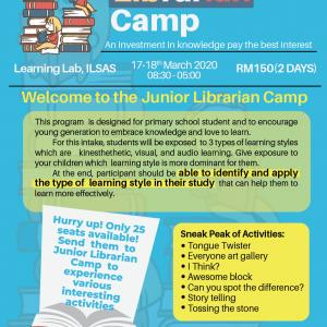 JUNIOR LIBRARIAN CAMP – 2020