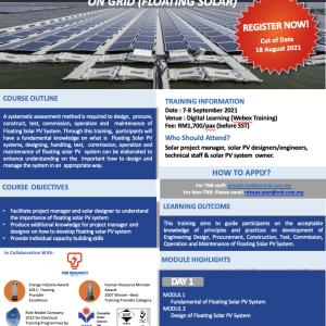 FUNDAMENTAL OF SOLAR PV SYSTEM ON GRID (FLOATING SOLAR) – DIGITAL LEARNING